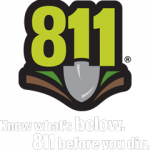 811 logo vertical white text 1